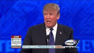 2016 gop debate donald trump jeb bush spar on trump s eminent domain stance