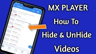 How to hide and unhide video in mx player screenshot 2
