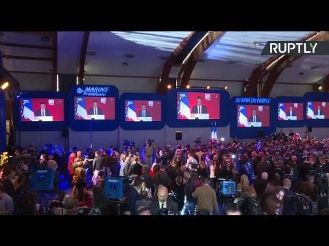 Soirée électorale depuis le QG du Front national (Direct du 23.04)