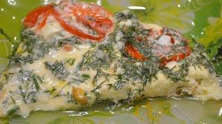 Омлет с помидорами./Omelette with tomatoes.