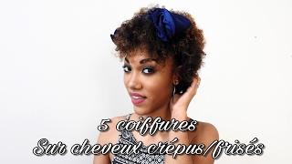 5 coiffures simples sur cheveux FRISÉS / CRÉPUS COURTS 🌸