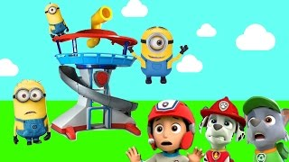 Paw Patrol Pups Welcome Minions to Adventure Bay