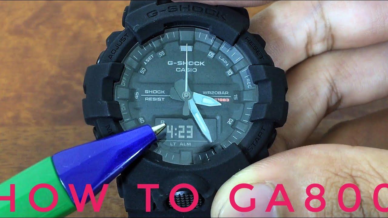 757efc3db55d Casio 5535 Module - GA800 series G-Shock watch set-up