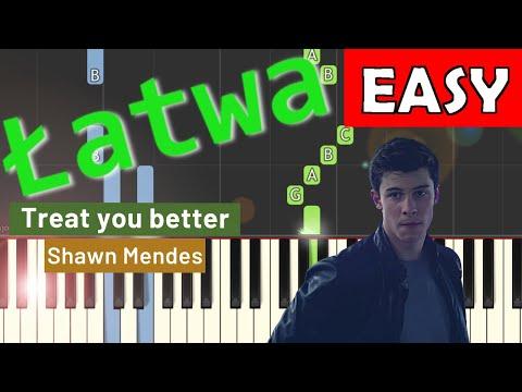 🎹 Treat you better (Shawn Mendes) - Piano Tutorial (łatwa wersja) (EASY) 🎹
