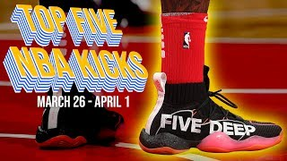 Top 5 Sneakers Worn in the NBA (March 26- April 1) | #NBAKICKS