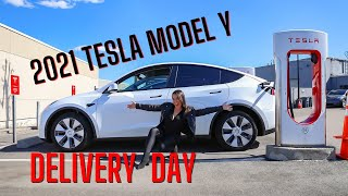 2021 Tesla Model Y Delivery Day - Taking Delivery of My First Tesla in Boston - JQLOUISE Tesla Vlog