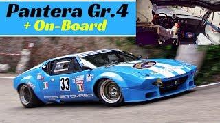 De Tomaso Pantera GTS Gr.4 Action + Giuliano Palmieri Onboard - 2018 Bologna San Luca hillclimb race