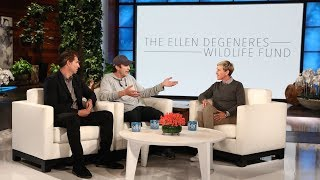 Ashton Kutcher Shocks Ellen with Huge Donation