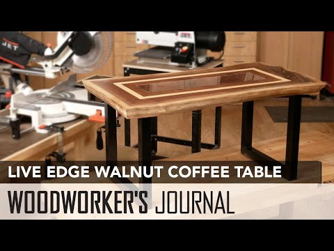 Walnut Live Edge Coffee Table | Woodworking Project