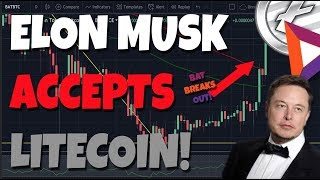 Elon Musk Accepts Litecoin??? Basic Attention Token Coinbase Rumor Results In BREAKOUT!