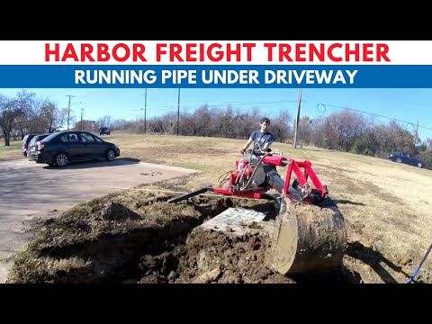 Harbor Freight Trencher (Digging for driveway drain)