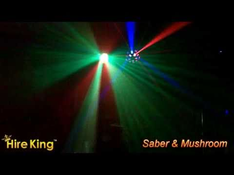 Saber & Mushroom Lighting Package - Lighting Hire Perth