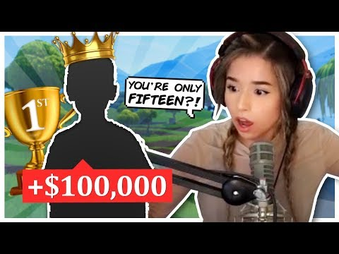 Kid has PANIC ATTACK while meeting Pokimane in Fortnite Duo Fill!