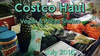 huge costco haul   vegan prices shown   july 2016