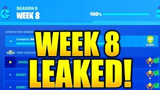 FORTNITE SEASON 9 WEEK 8 CHALLENGES LEAKED! WEEK 8 ALL CHALLENGES EASY GUIDE SEASON 9 CHALLENGES!
