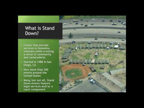 Legal Services at Stand Downs