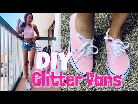 DIY • Glitter Vans 💓