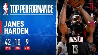 James Harden GOES OFF For 42 PTS