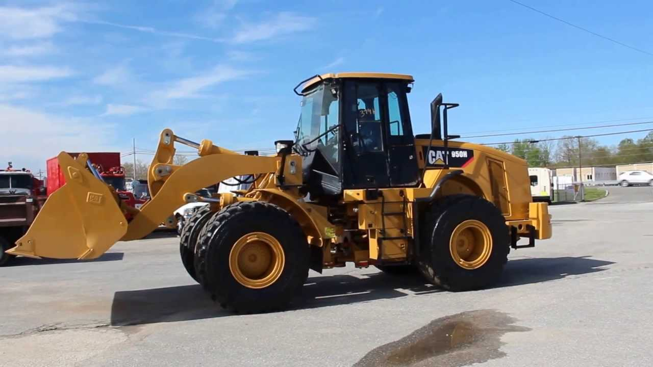 Rubber Tire Loader Caterpillar 950h Sn 374h Youtube