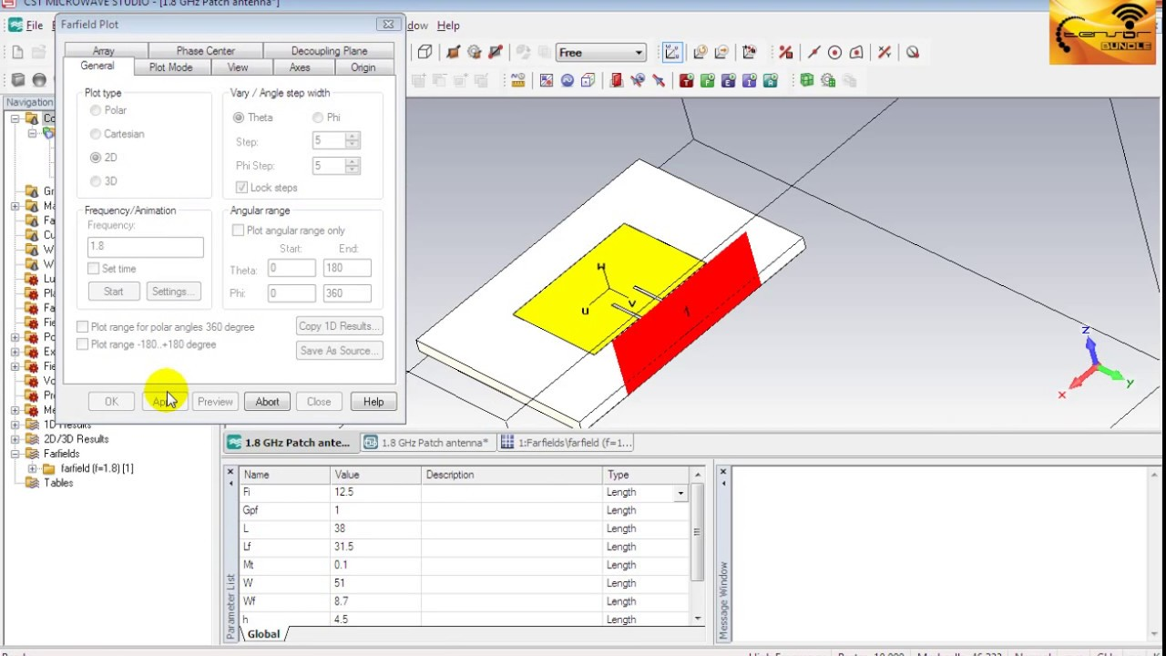 CST MWS Tutorial 06: Exploring Simulation Results of Microstrip ...