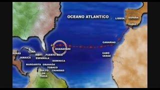 Ruta de Colón a la Isla de Guanahani. (San Salvador) 1492.