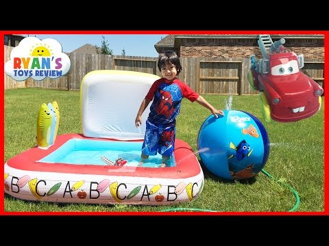 DISNEY FINDING DORY INFLATABLE SPRINKLER Beach Ball Kiddie Pool Disney Cars Toys To The Rescue Mater