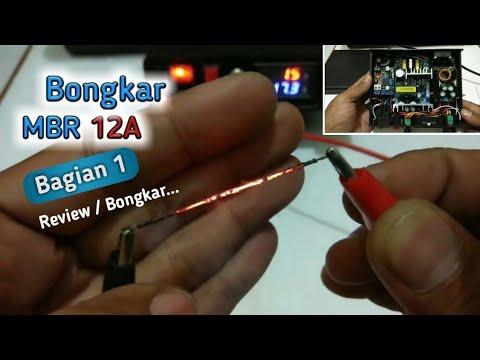 Review dan Bongkar Power Supply MBR 12A rakitan