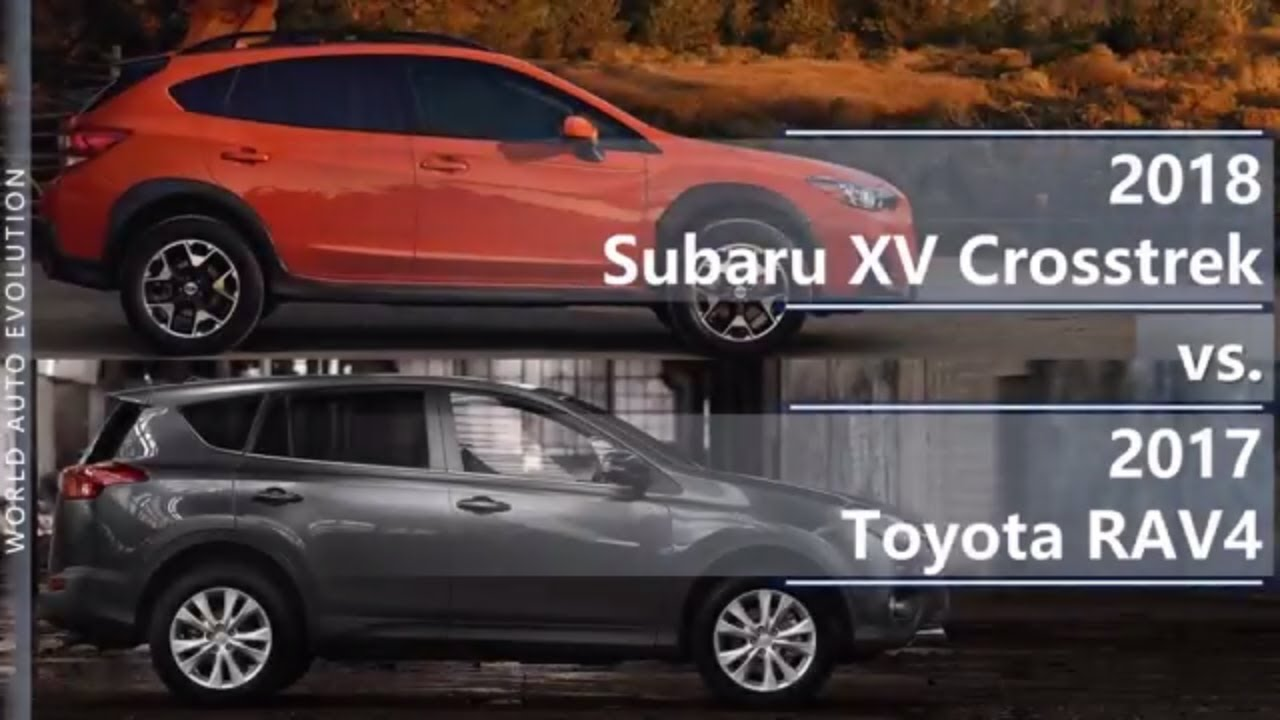 2018 Subaru Xv Crosstrek Vs 2017 Toyota Rav4 Technical Comparison