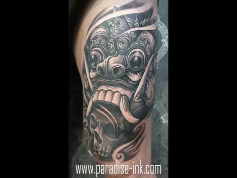 PARADISE INK TATTOO BALI - Rangda mask & skull