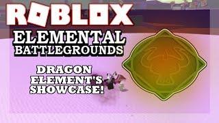 [NOVO ELEMENTO!] DRAGON Element demonstrar! (Showcase!) | Campo de batalha Elemental de Roblox