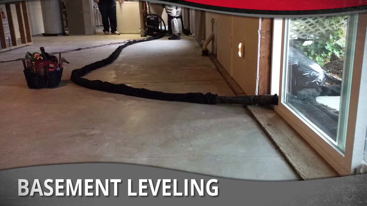 Basement floor lifting leveling by liftech youtube for Bare floor meaning