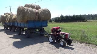 Nie uwierzysz co potrafi ten  mały traktorek własnej produkcji / żniwa 2015