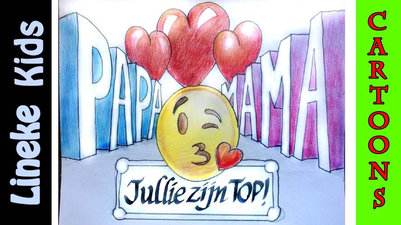 Tekening Maken In Stappen Voor Papa En Mama 3d Letter