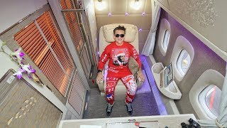 ALL TIME GREATEST AIRPLANE SEAT - Emirates First Class Suite Free HD Video