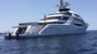 Mega Yacht St  PRINCESS OLGA visit Ibiza and Formentera