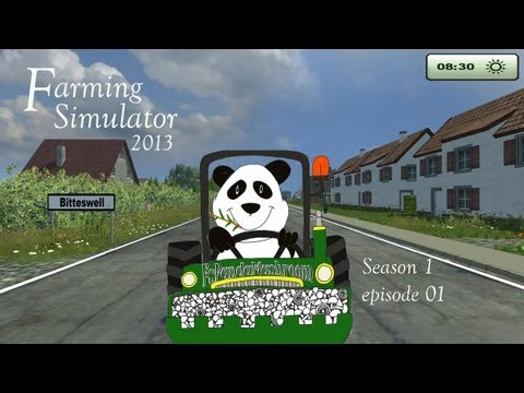 Let's play Farming Simulator 2013-Season 1 ep01-Bitteswell 2013 map