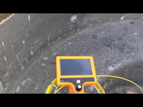 Finding A Water Leak With The Hand Held Video Pro Camera And Locating A Pipe