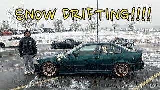 DRIFTING IN A SNOW STORM !! Bmw E36 Broke Again.
