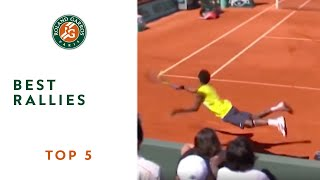 Top 5 Best Rallies - Roland-Garros