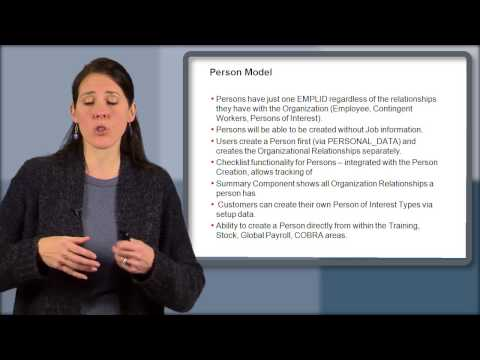 Oracle Peoplesoft: HCM Person Model Overview