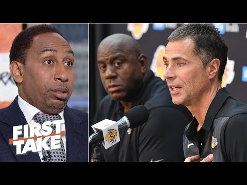 Stephen A. reacts to Magic Johnson accusing Lakers GM Rob Pelinka of 'backstabbing' | First Take
