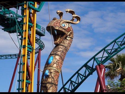 CHRISTMAS TOWN Busch Gardens WaLKTHRouGH tour COBRA'S CURSE ...