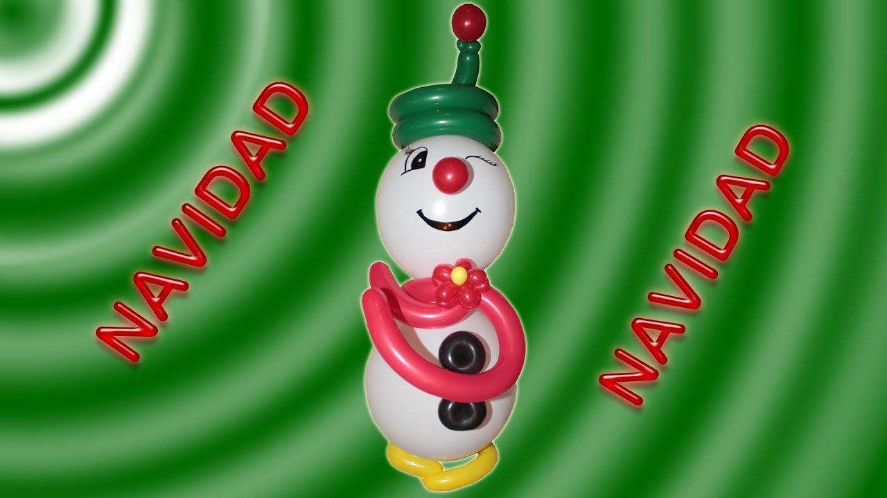 Decoracion navide a mu eco de nieve en globos frosty the for Decoracion navidena