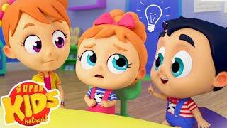 No No To School Song | Nursery Rhymes & Kids Songs | Super Supremes | Superhero Cartoon