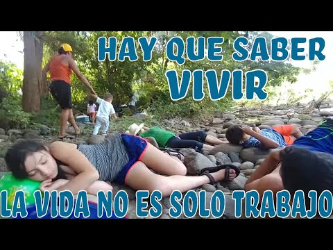 """""""La vida en El Salvador es envidiable"""" asi se disfruta sobre una cama de piedra en el rio. Parte 16"""