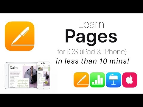 Complete Pages for iOS Tutorial  Full quick classguide + EXTRAS! iPad & iPhone