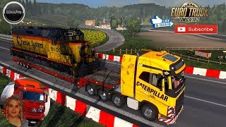Euro Truck Simulator 2 (1.34) Railway Cargo Pack by Jazzycat v 1.9 MHA map Pro + DLC's & Mods
