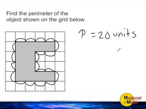 Using A Grid To Find The Perimeter Of An Irregular Object Youtube