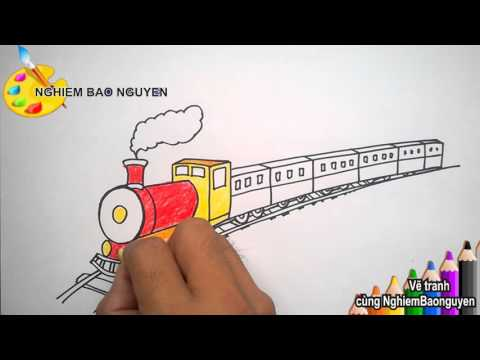 Vẽ tàu hỏa/How to Draw Train