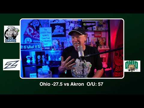 Ohio vs Akron Free College Football Picks and Predictions 11/10/20 CFB Tips Tuesday | PickDawgz
